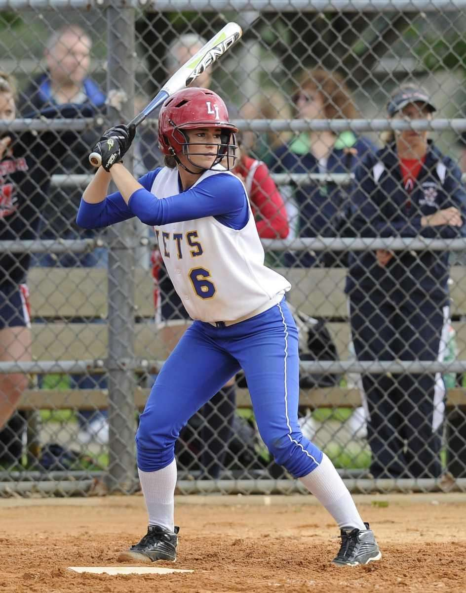 East Meadow's #6 at bat against MacArthur in
