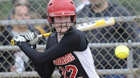 Plainedge's Dolores Diemicke watches a high pitch in