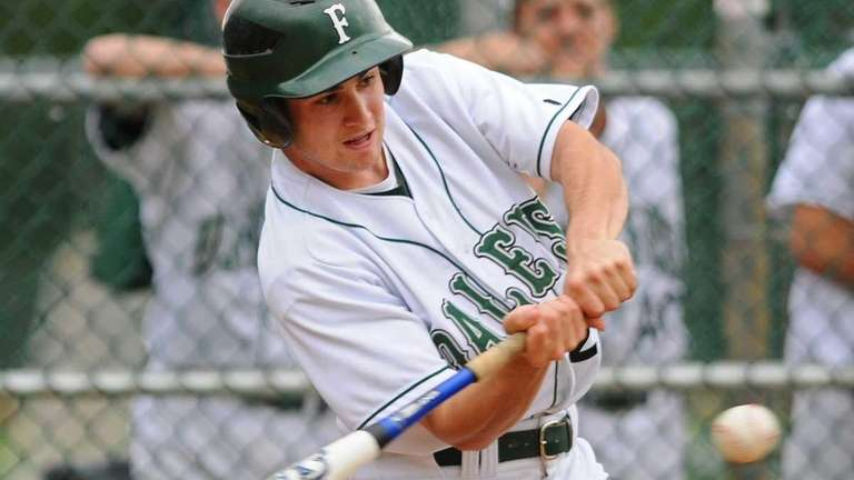 Farmingdale High School left fielder #21 Richie Sullivan