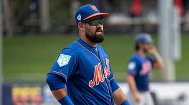 New York Mets infielder Luis Guillorme during a
