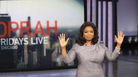 talk-show host Oprah Winfrey announces during a