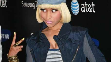 Recording artist Nicki Minaj attends the Samsung Infuse