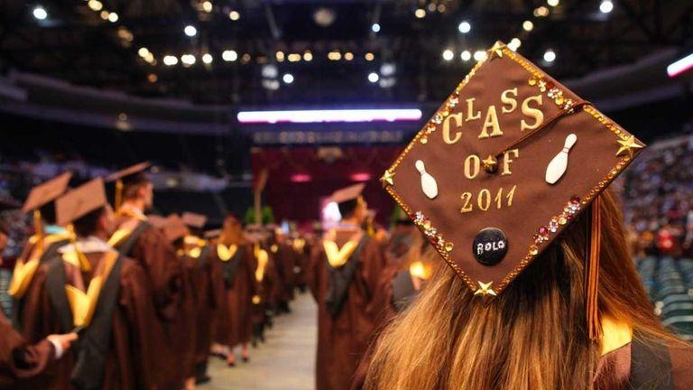Adelphi graduates class of 2011 participates in the