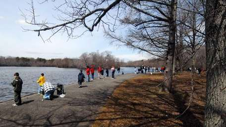 Anglers cast their lines at Belmont Lake State