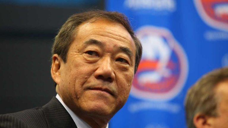 New York Islanders owner Charles Wang during a