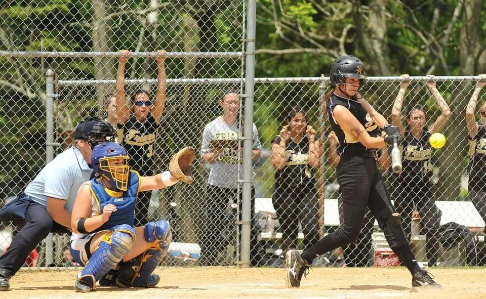Saint Anthony's Michelle Carbone drives the ball to