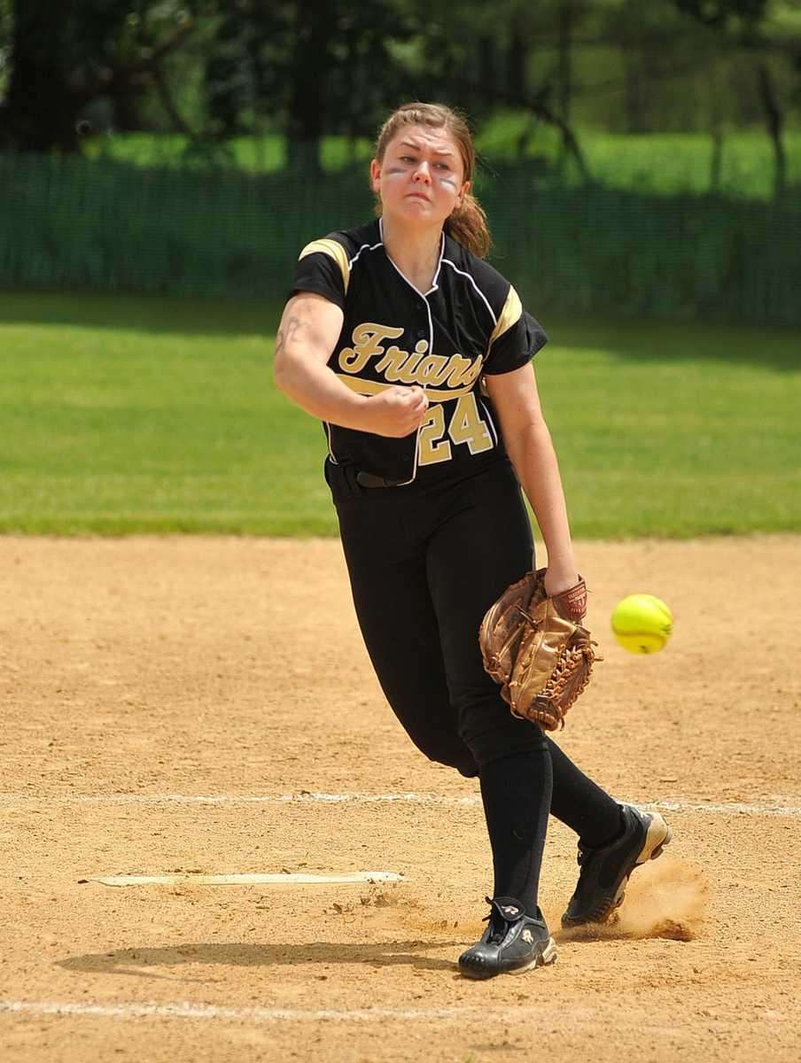 Saint Anthony's starting pitcher Aileen Reilly. (May 21,