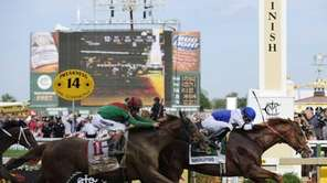 Shackleford, right, with Jesus Castanon aboard, crosses the