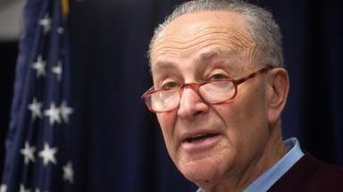 Sen. Chuck Schumer (D-N.Y.) on March 10 in Manhattan.