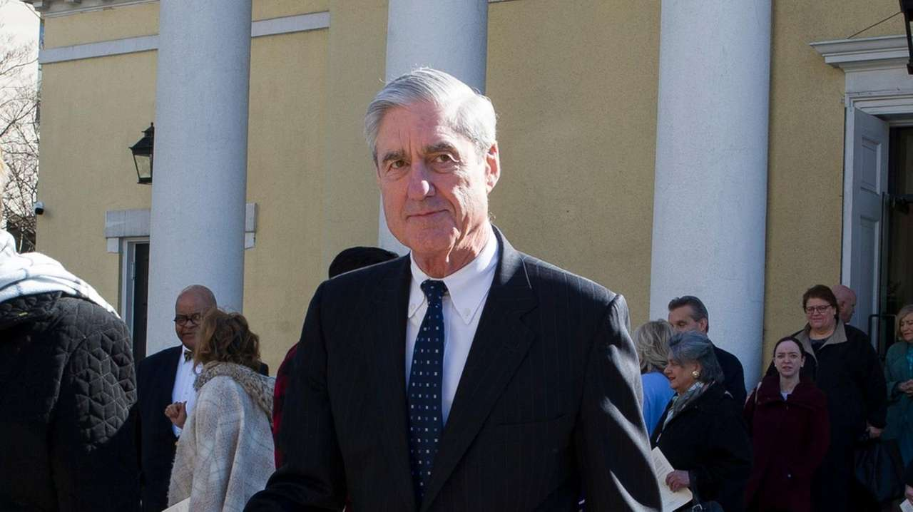 Special counsel Robert Mueller departs St. John's Episcopal