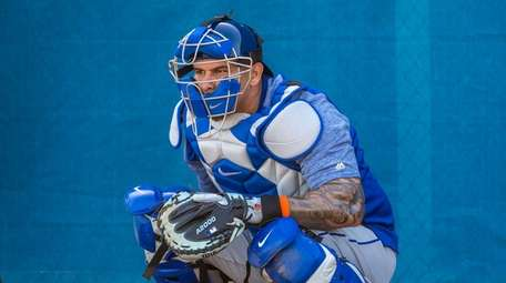 New York Mets catcher Wilson Ramos during a