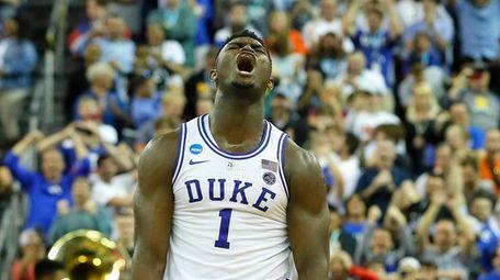 Zion Williamson #1 of the Duke Blue Devils