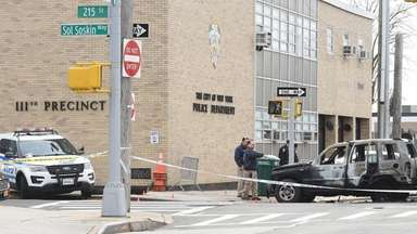 NYPD officers shot and wounded a man Sunday