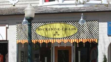 MacKenzie-Childs brings its fanciful merchandise to Southampton. (May