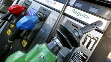 Gas pumps at an Exxon Mobil gas station