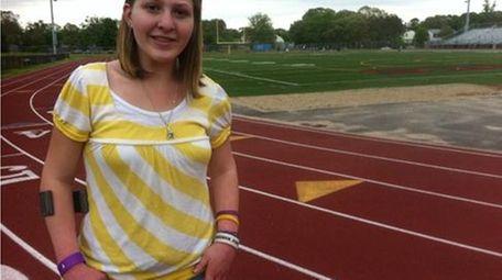 Erica Mones, 13, of Selden, has competed in