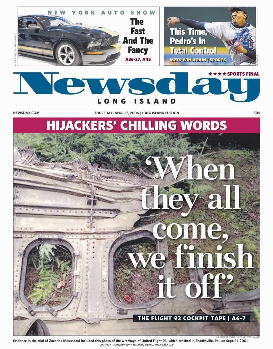 Thursday, April 13, 2006. Read the story