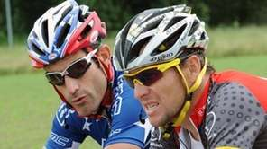 George Hincapie and Lance Armstrong in 2010.