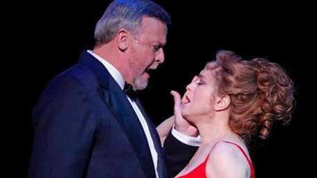Ron Raines and Bernadette Peters in Follies.