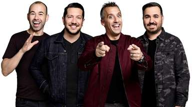 "The ""Impractical Jokers"" crew, from left, James"