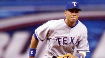 Texas Rangers shortstop Alex Rodriguez on July 17,