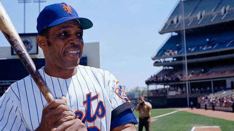 Willie Mays at Shea Stadium in 1972.