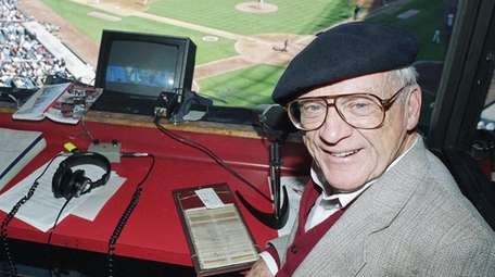 Hall of Fame broadcaster Ernie Harwell on Oct.