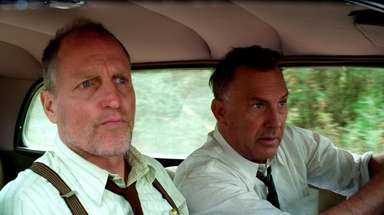 Woody Harrelson, left, and Kevin Costner in