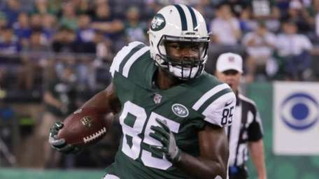 Jets tight end Neal Sterling in a preseason