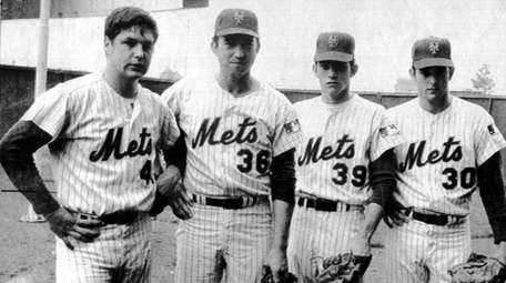 From left, Mets pitchers Tom Seaver, Jerry Koosman,