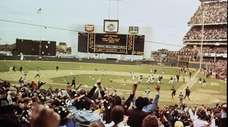 The celebration at Shea Stadium after the Mets