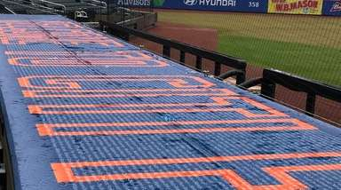 The top of the Mets' dugout at Citi