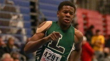 Jaheim Dotson of Longwood wins the 300-meter dash