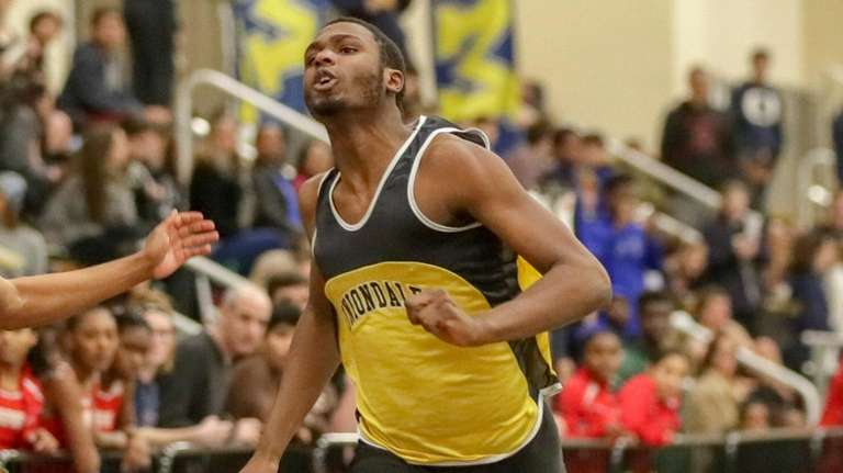 Uniondale's Giordano Williams wins the 55 meters in