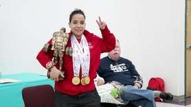 On Monday, Angel Athenas, a four-time gold medal