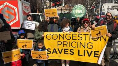 Supporters of congestion pricing -- advocates and transit