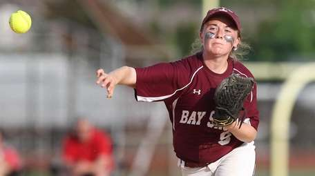 Bay Shore's Chrissy Coan (9) throws out Connetquot's