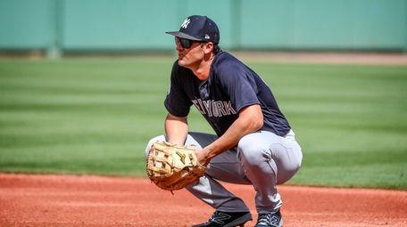 Yankees' Greg Bird at first base at Jet