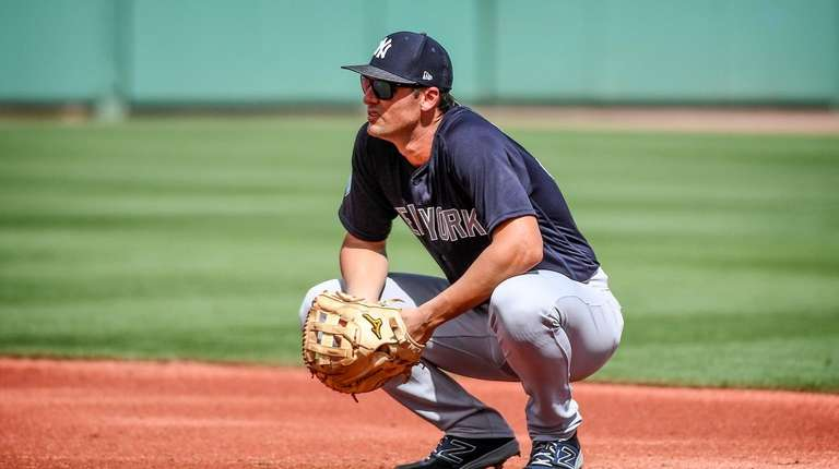 Yankees' Greg Bird at first base at Jet