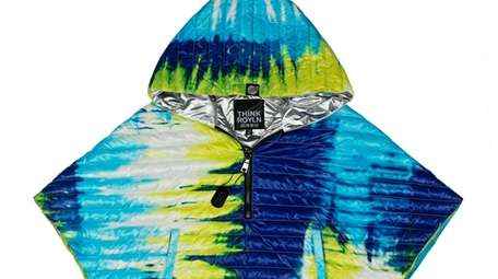 This water-resistant cropped poncho comes in a variety