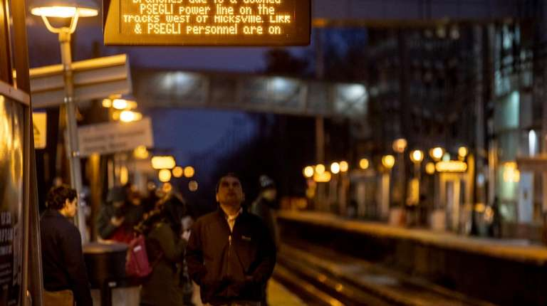 Commuters at the Mineola train station hear the