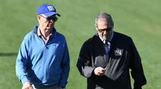 Giants president and CEO John Mara, left, and
