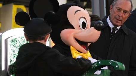 Mickey Mouse and Mayor Bloomberg