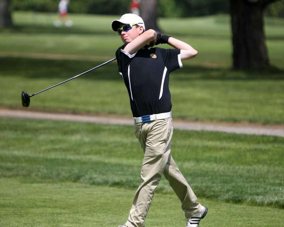 Wheatley's Michael Braunstein hits a drive during the