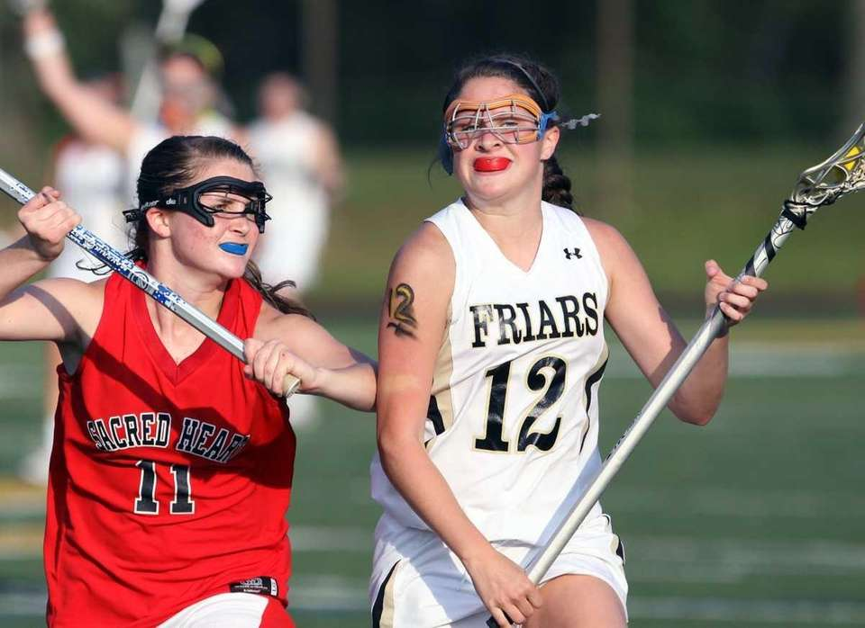 St. Anthony's Shanna Brady with the ball against