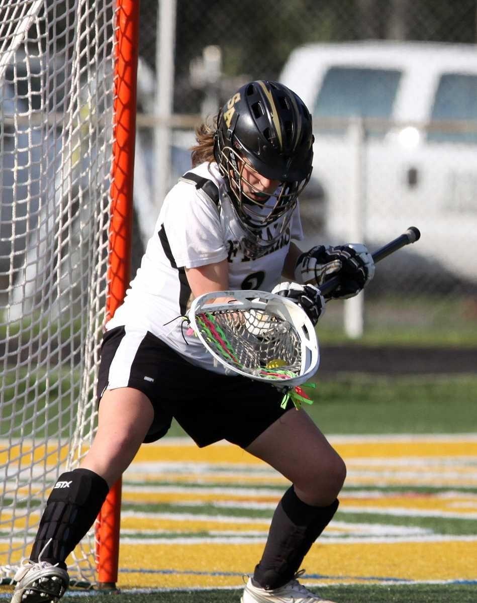 St. Anthony's goalie Tori Holland makes a save