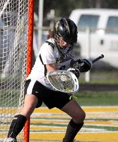 St. Anthony's goalie Tori Holland makes a save