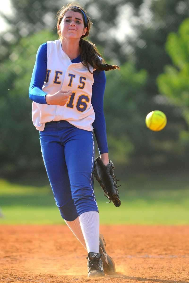 East Meadow's Kerri Shapiro delivers to the plate