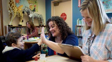 The Hampton Bays school district recently screened children