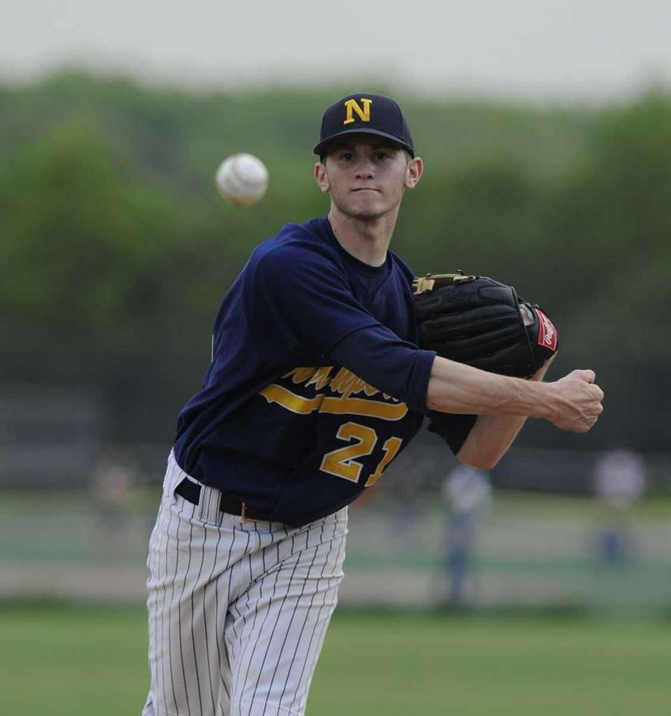 Northport pitcher Brandon Fischer delivers a pitch against